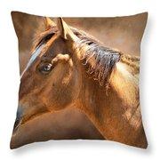 Wild Mustang Throw Pillow