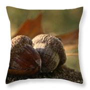 Wild Nuts Throw Pillow