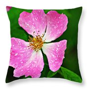 Wild Purple Throw Pillow