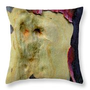 Wild Red Berry Bark Throw Pillow