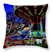 Wild Rides Throw Pillow