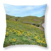 Wild Sunflowers 2 Throw Pillow