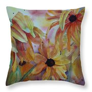Wild Sunflowers Throw Pillow