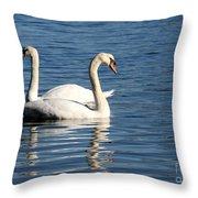 Wild Swans Throw Pillow by Sabrina L Ryan
