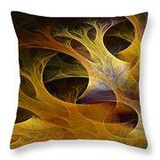 Wild Trees Throw Pillow