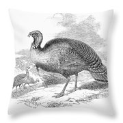 Wild Turkey, 1853 Throw Pillow