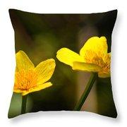 Wild Yellows Throw Pillow