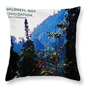 Wilderness Freedom Throw Pillow