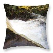Wilderness Waterfall Autumn Stream Throw Pillow