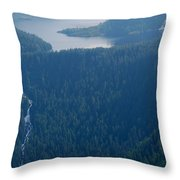 Wilderness Waterfall Throw Pillow
