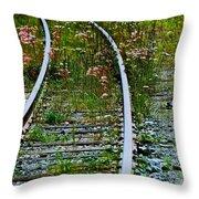 Wildflower Railroad Throw Pillow