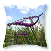 Wildflower Sky Throw Pillow