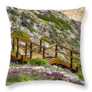 Wildflower Steps Throw Pillow