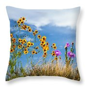 Wildflower Weed Throw Pillow