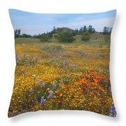 Wildflower Wonderland 8 Throw Pillow
