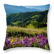 Wildflowers Umbria Throw Pillow