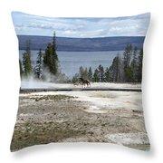 Wildlife In Yellowstone Throw Pillow