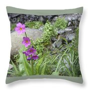 Wildly Pink Throw Pillow