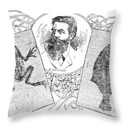 Wilhelm Konrad Roentgen, German Throw Pillow