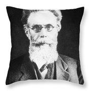 Wilhelm Roentgen, German Physicist Throw Pillow
