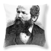 Wilhelm Steinitz (1836-1900) Throw Pillow