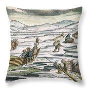 Willem Barents (c1550-1597) Throw Pillow