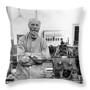 Willem Einthoven, Dutch Physiologist Throw Pillow
