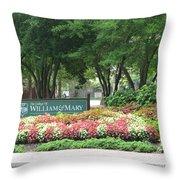 William And Mary. Williamsburg. Virginia. Throw Pillow