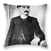 William Barclay Masterson Throw Pillow