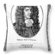 William Craven (1608-1697) Throw Pillow