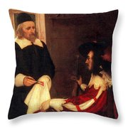 William Harvey Demonstrating Circulation Throw Pillow