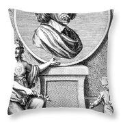 William Harvey, English Physician Throw Pillow