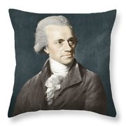 William Herschel, German Astronomer Throw Pillow by Science Source