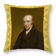 William Hyde Wollaston, English Chemist Throw Pillow