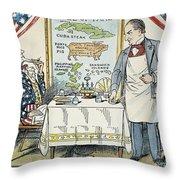 William Mckinley Cartoon Throw Pillow