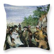William Penns Treaty, 1682 Throw Pillow