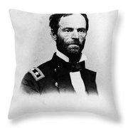 William Tecumseh Sherman, Union General Throw Pillow