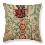 William The Conqueror Family Tree Throw Pillow by Photo Researchers