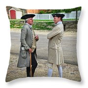 Williamsburg Colonists Throw Pillow