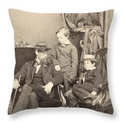 Willie & Tad Lincoln, 1862 Throw Pillow