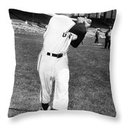 Willie Mays (1931-  ) Throw Pillow