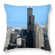Willis Sears Tower 01 Chicago Throw Pillow
