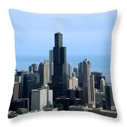 Willis Sears Tower 02 Chicago Throw Pillow