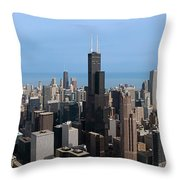 Willis Sears Tower 03 Chicago Throw Pillow