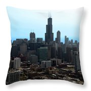 Willis Sears Tower 04 Chicago Throw Pillow