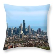 Willis Sears Tower 05 Chicago Throw Pillow