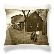 Williston Mill - Sepia Throw Pillow