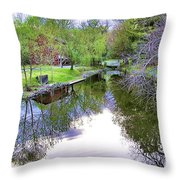 Williston Mill Stream Throw Pillow