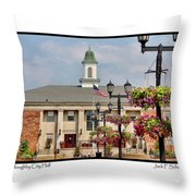 Willoughby City Hall Throw Pillow
