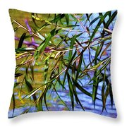 Willows At The Pond Throw Pillow